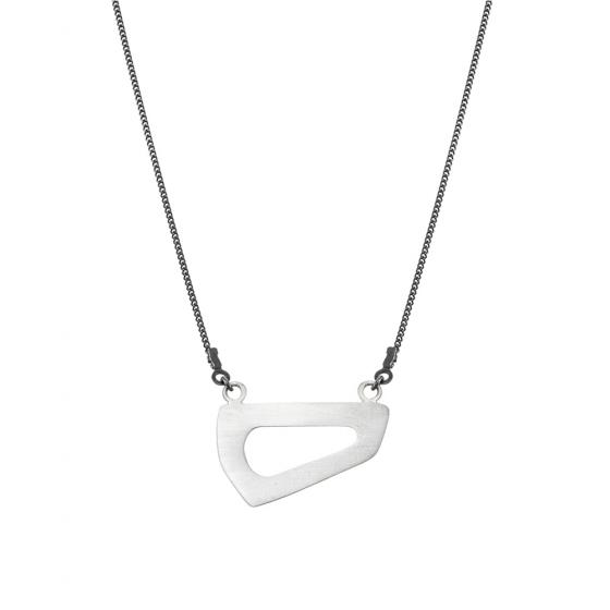 Trapeze Land Silver Necklace