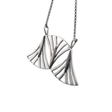 Lilly Triple Silver Necklace