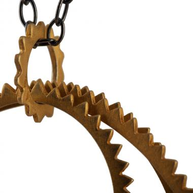 Multi Gold Gear Necklace