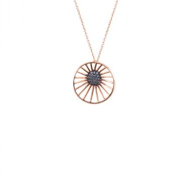 Poppy Rose Zircon Necklace