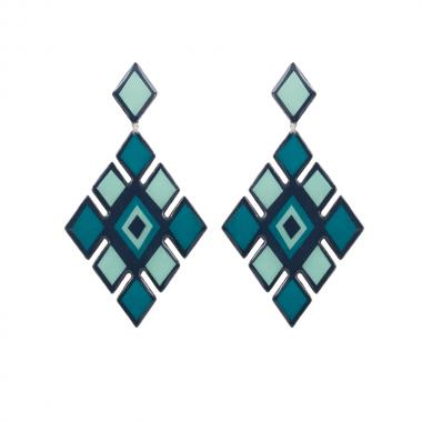 Metsovo Teal Earrings