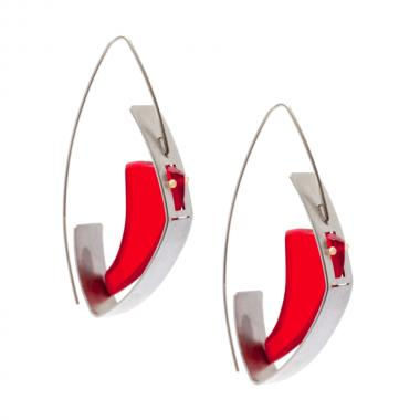 Blending Red Earrings