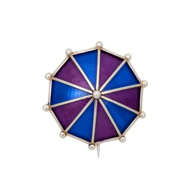Umbrella Purple Brooch